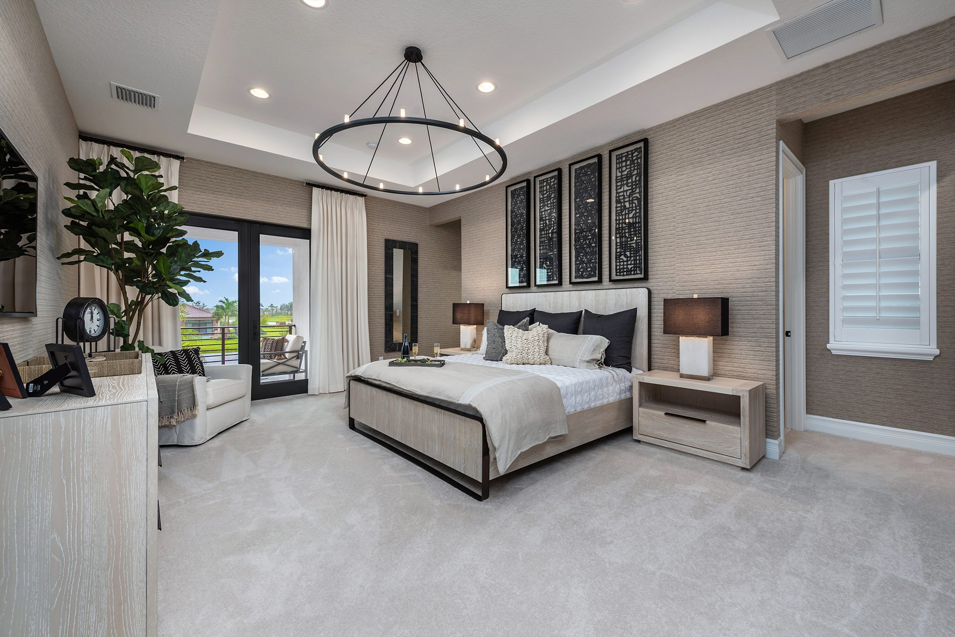 Florence Contemporary Master Bedroom