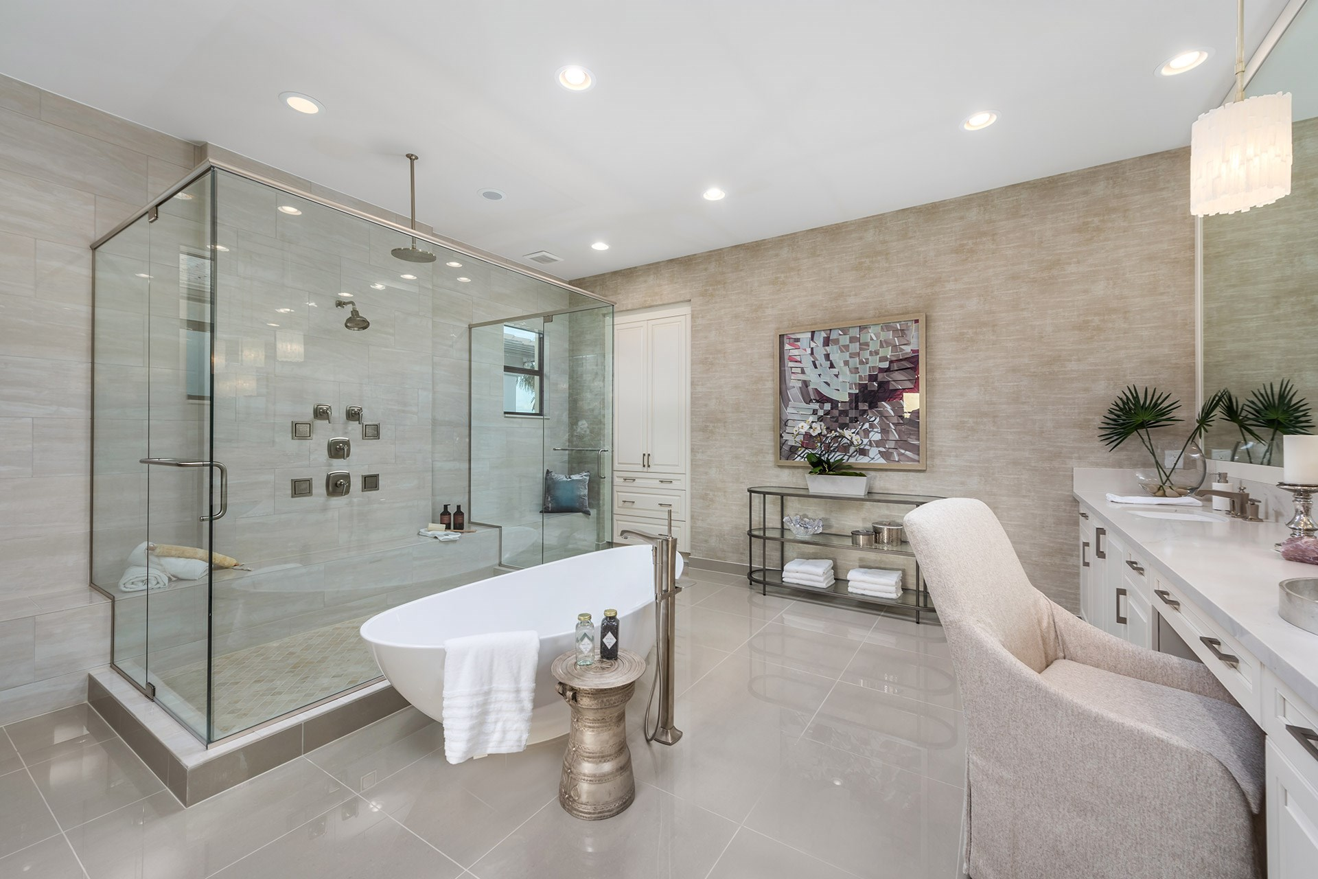 Riverside Contemporary Master Bath