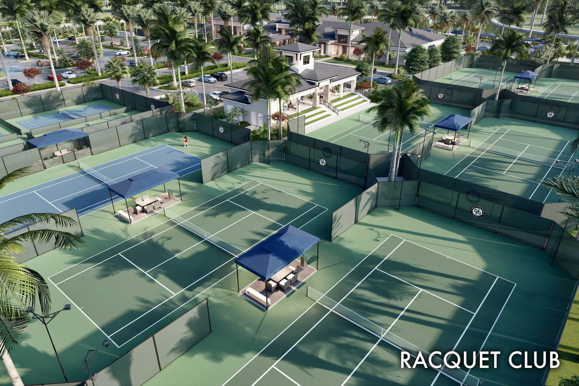 Boca Bridges BBR Club tennis aerial rend 3 28 19