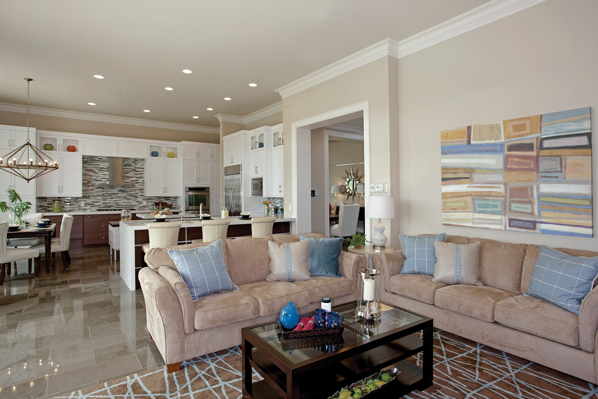 Sanibel Contemporary Family Room