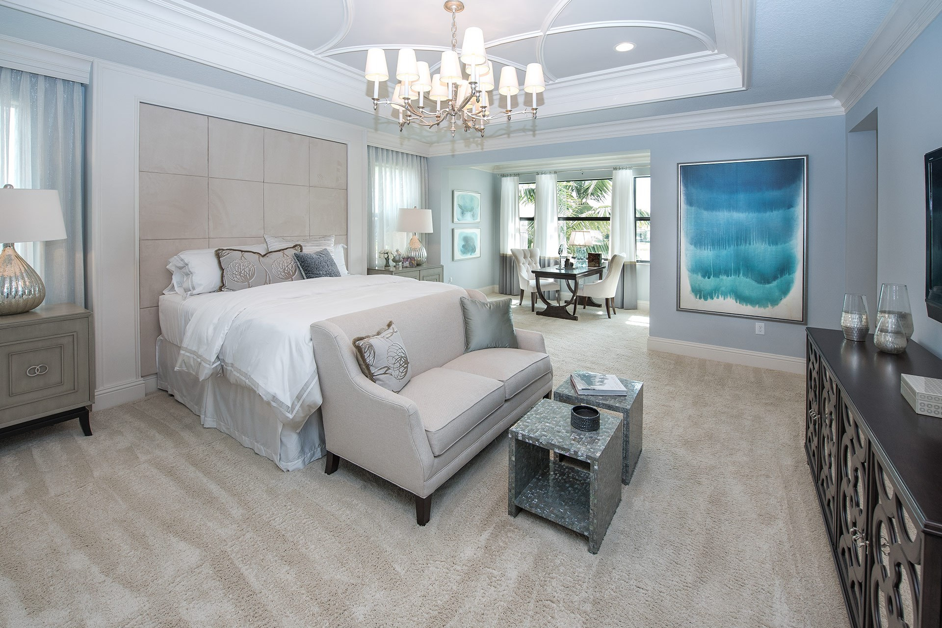 Sanibel Contemporary Master Bedroom