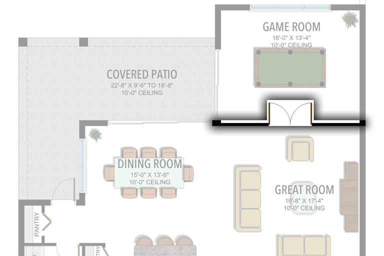 Add Walls to Game Room