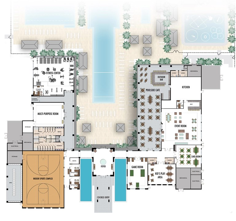 Lotus Clubhouse floorplan