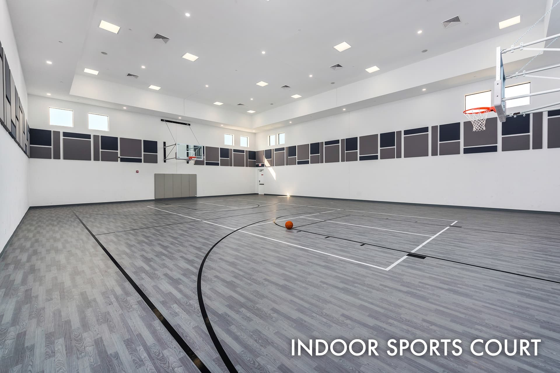Lotus clubhouse indoor basketball