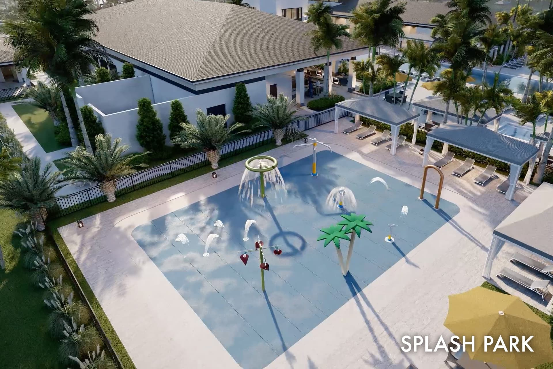 Lotus clubhouse splash pad