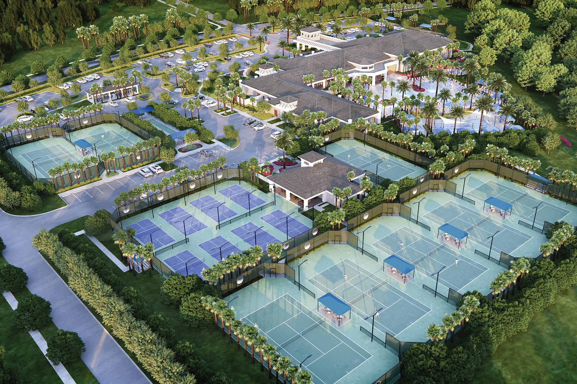 Pickleball & Tennis Courts
