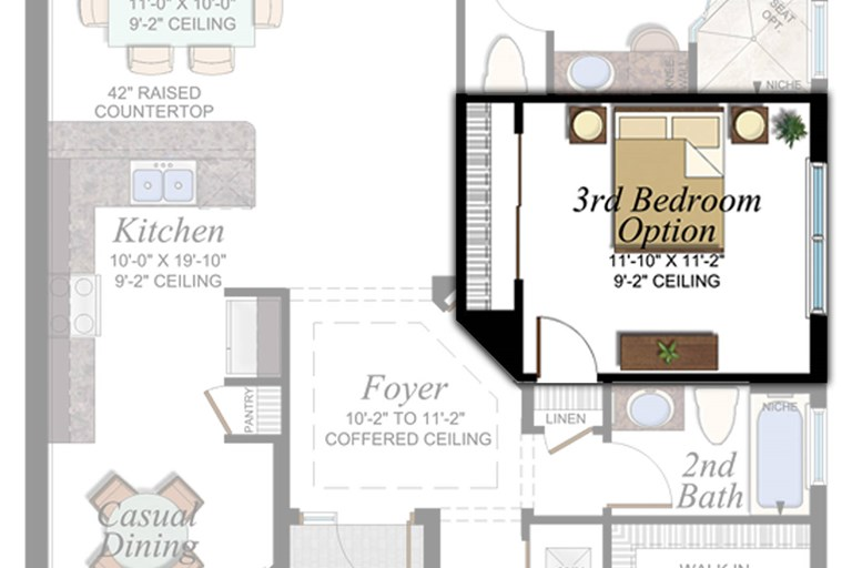 3rd Bedroom in lieu of Den