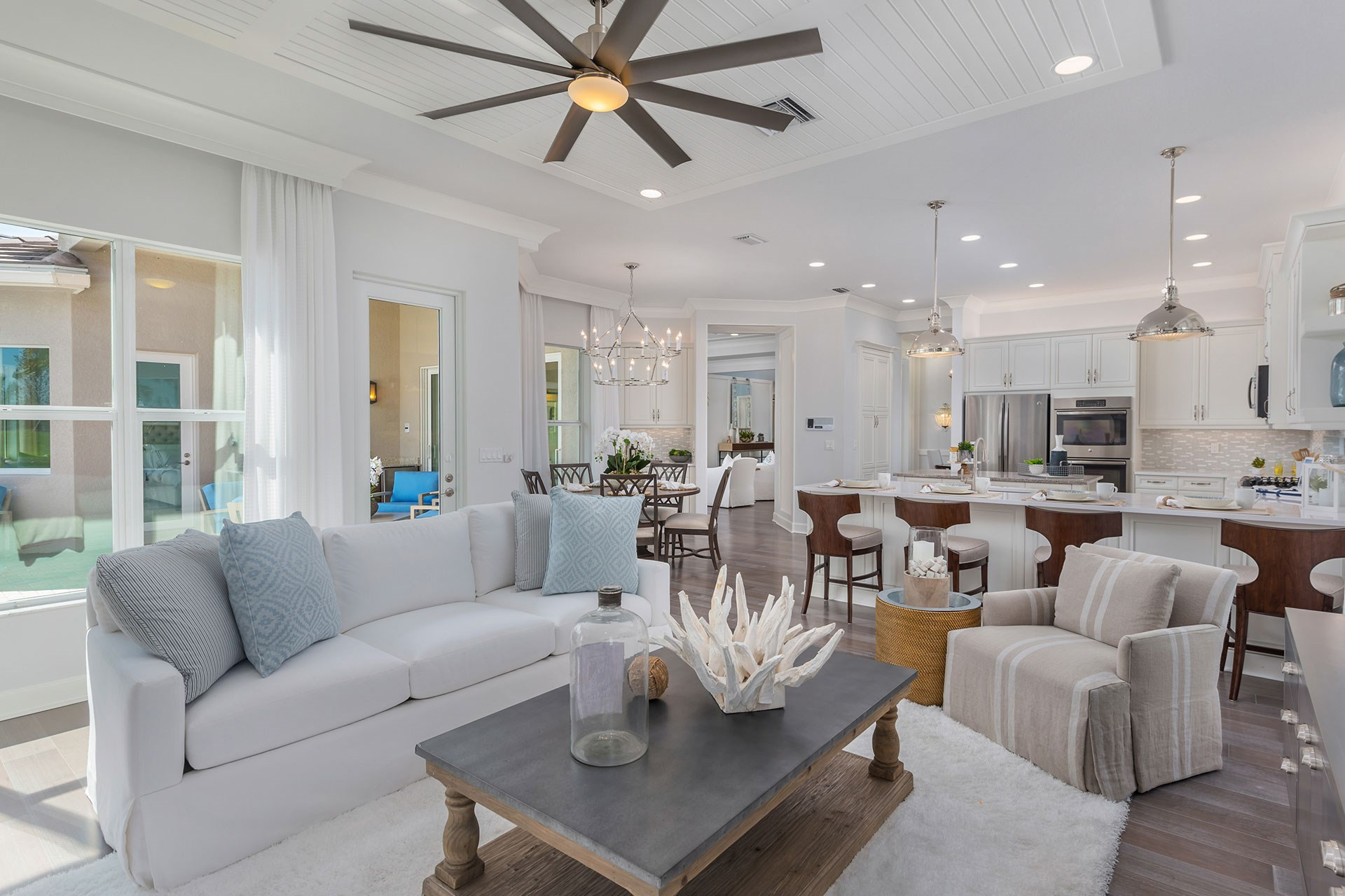 Charleston Grande Family Room and Kitchen