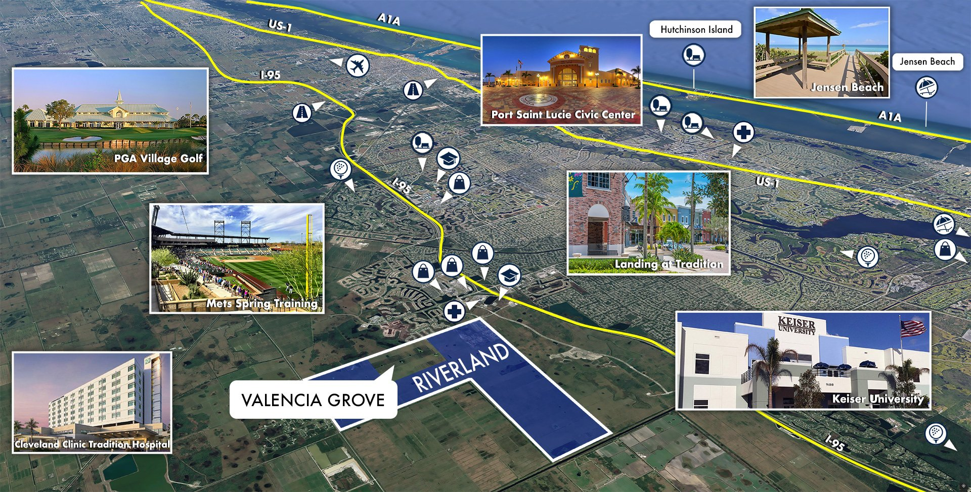 Valencia Grove at Riverland Area Map